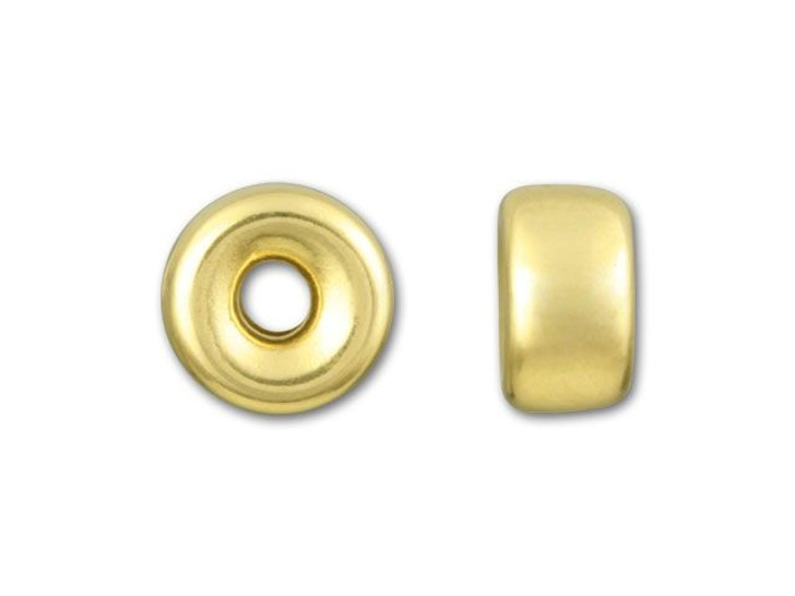 Gold-Filled 14K/20 6.1mm Bright Roundel Bead