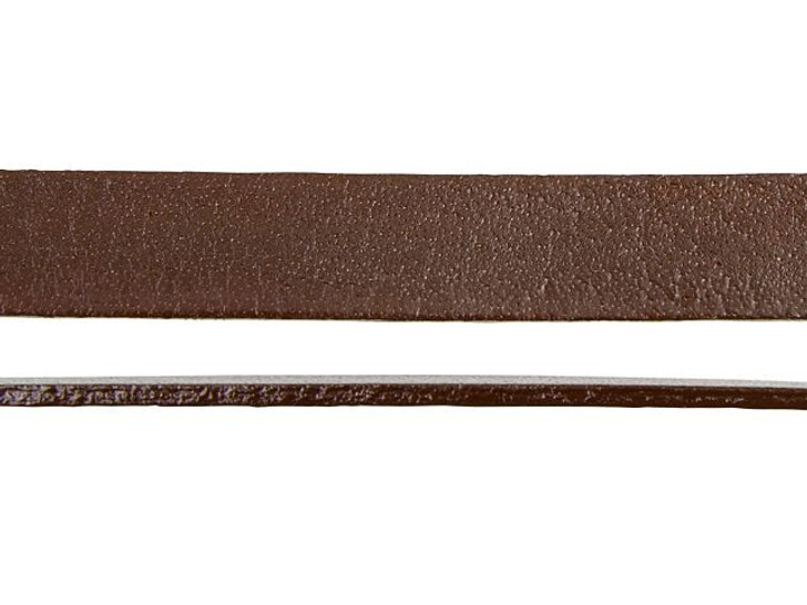 Leather Cord USA 10mm Chocolate Leather Strap - By the Foot