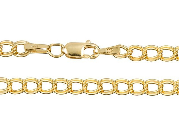 Gold-Filled 14K/20 7.25-Inch 3.5x1.65mm Parallelo Link Chain Charm Bracelet