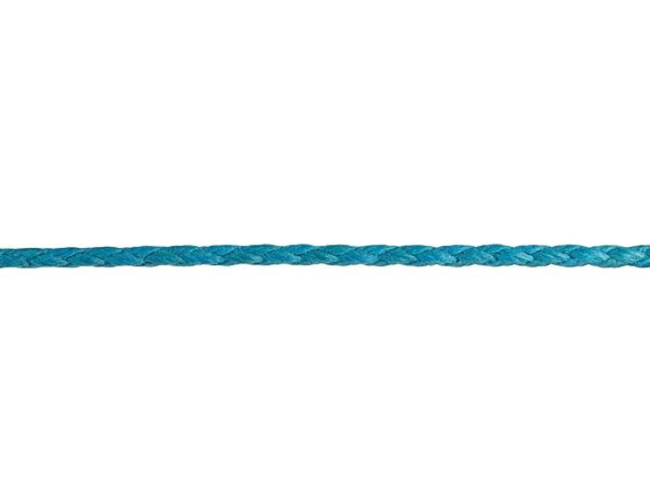 Leather Cord USA 2mm Turquoise Braided Cotton Bolo Cord (5 Foot Pack)