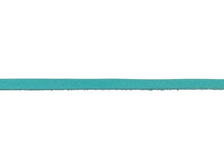 Leather Cord USA 3mm Turquoise Deertan Lace - By the Foot