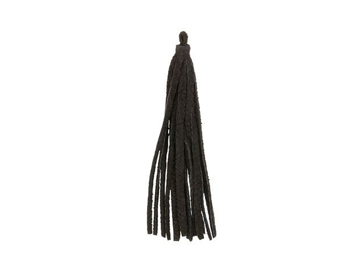 Leather Cord USA Black Small Suede Leather Tassel