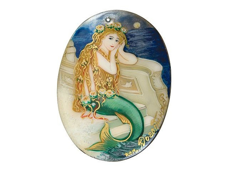 Little Mermaid by Hans Christian Andersen Mother of Pearl Pendant