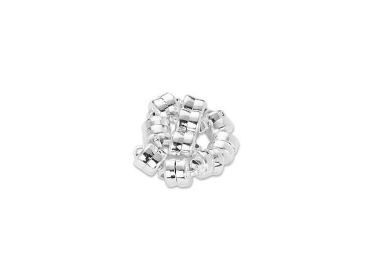 Mag-Lok Crazy-Strong 6mm Silver-Plated Magnetic Clasp Bulk Pack (10 Pcs)