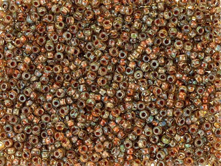Matubo 11/0 Czech Glass Crystal Picasso Seed Bead 2.5-Inch Tube