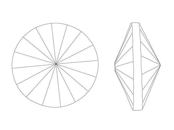 Matubo 12mm Czech Glass Rivoli Crystal