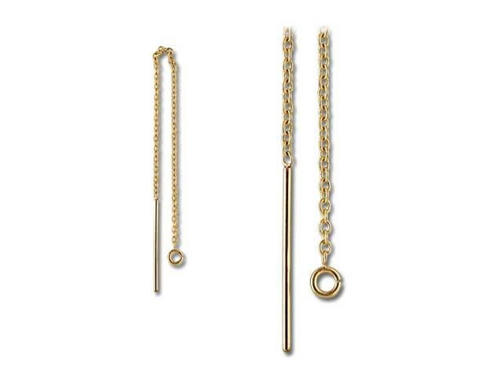 Gold-Filled 14K/20 Ear Thread with Ring (Pair)