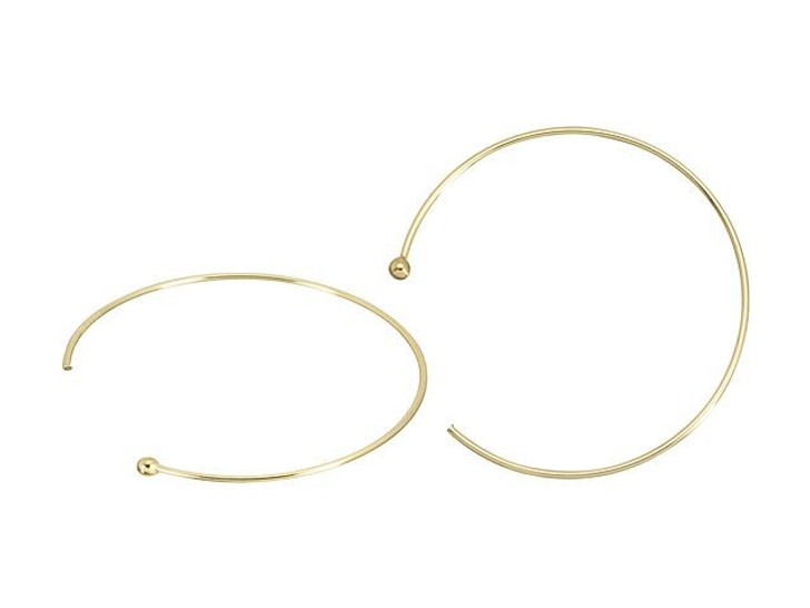 Gold-Filled 14K/20 Endless 22 Gauge Ball End Ear Wire (Pair)