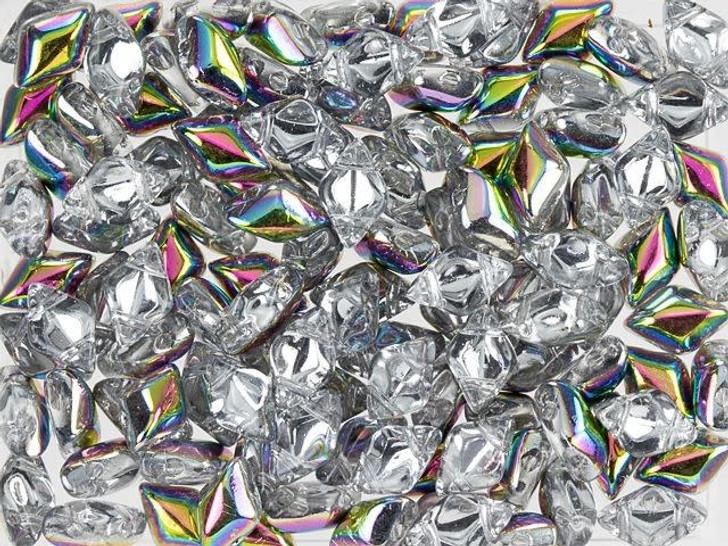 Matubo GemDuo 8 x 5mm Crystal Vitral Czech Glass 2-Hole Bead 2.5-Inch Tube