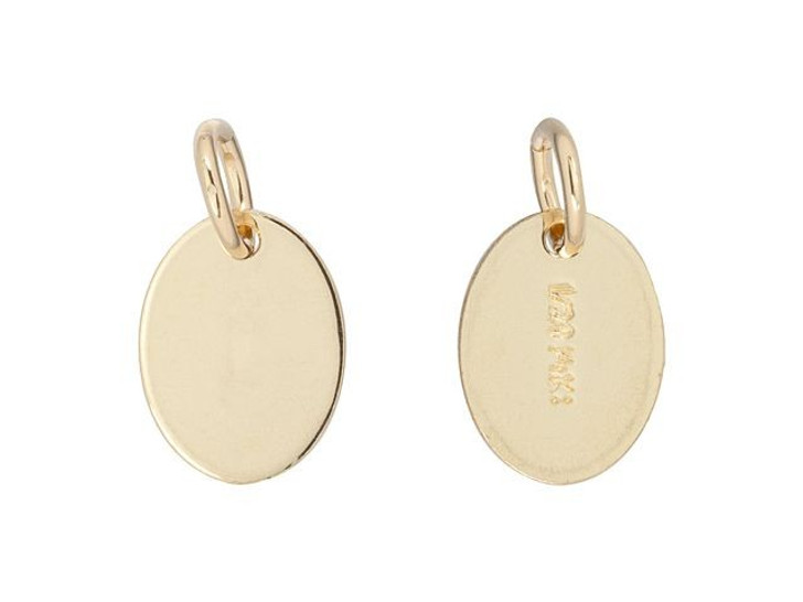 Gold-Filled 14K/20 Oval Quality Tag with Open Ring