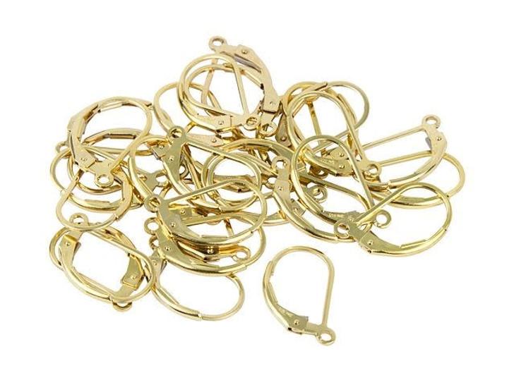 Gold-Filled 14K/20 Plain Lever-Back Earring Bulk Pack (15 pairs)