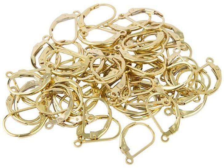 Gold-Filled 14K/20 Plain Lever-Back Earring Bulk Pack (30 pairs)