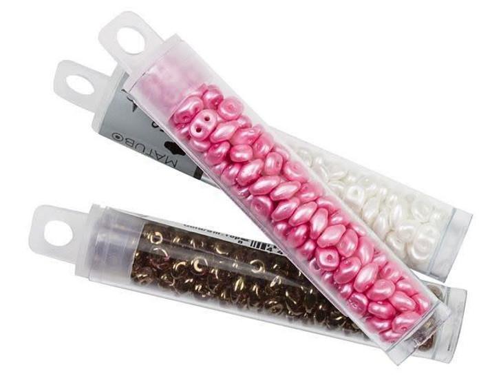 Matubo SuperDuo 2 x 5mm Sapphire Vitral 2-Hole Seed Bead 2.5-Inch Tube