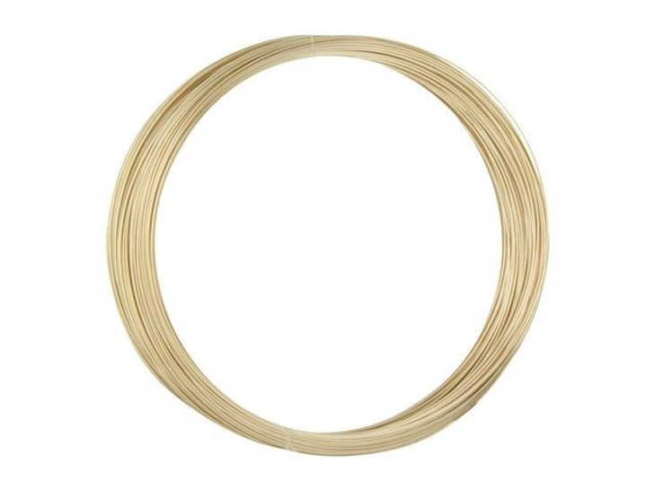 Gold-Filled 14K/20 Wire, Round 28 Gauge Half-Hard Approx. 1/2 Troy Oz.