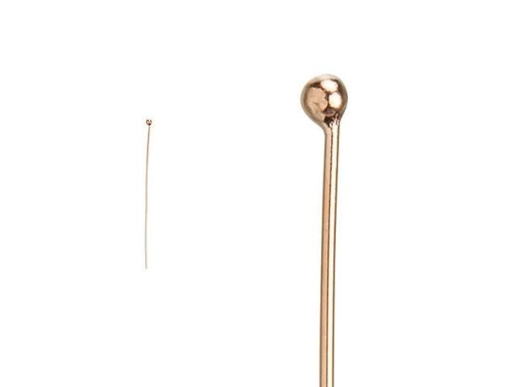 Rose Gold-Filled 14K/20 1.5-Inch Ball-End Head Pin - 24 Gauge