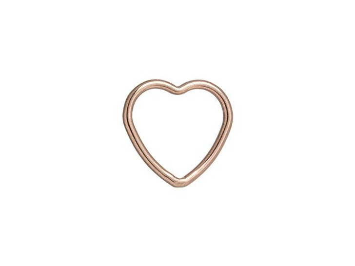Rose Gold-Filled 14K/20 10mm Closed Heart Jump Ring