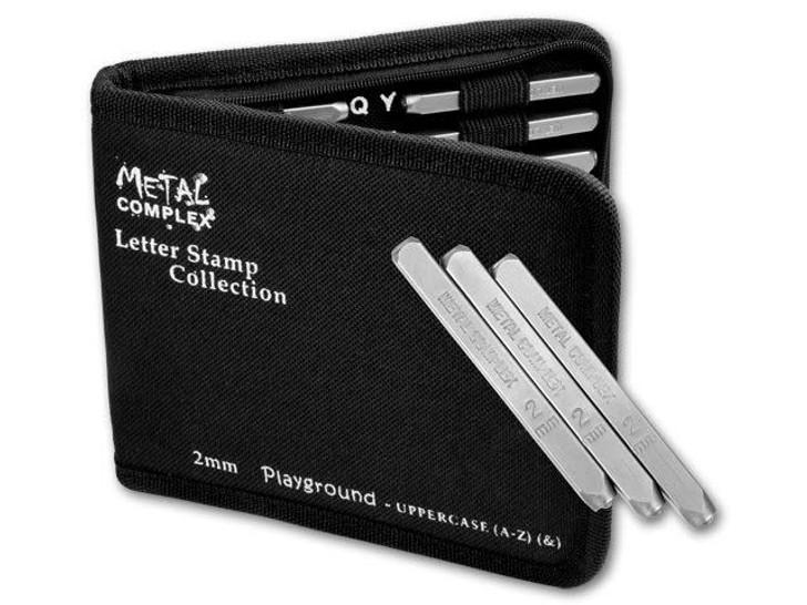 Metal Complex 2mm Upper Case 27 pc Playground Alphabet Stamp Set
