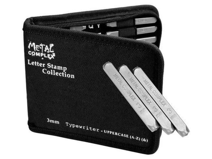Metal Complex 3mm Upper Case 27 pc. Typewriter Alphabet Stamp Set