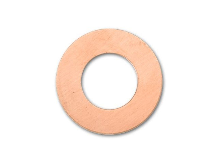 Metal Complex Copper 25mm Round Washer Blank with 12mm Hole, 24 gauge