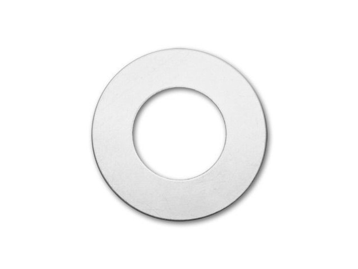 Metal Complex German Silver 25mm Round Washer Blank with 12mm Hole, 24 gauge