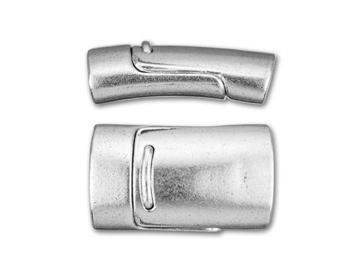 Mini Regaliz Antique Silver-Plated Magnetic Clasp
