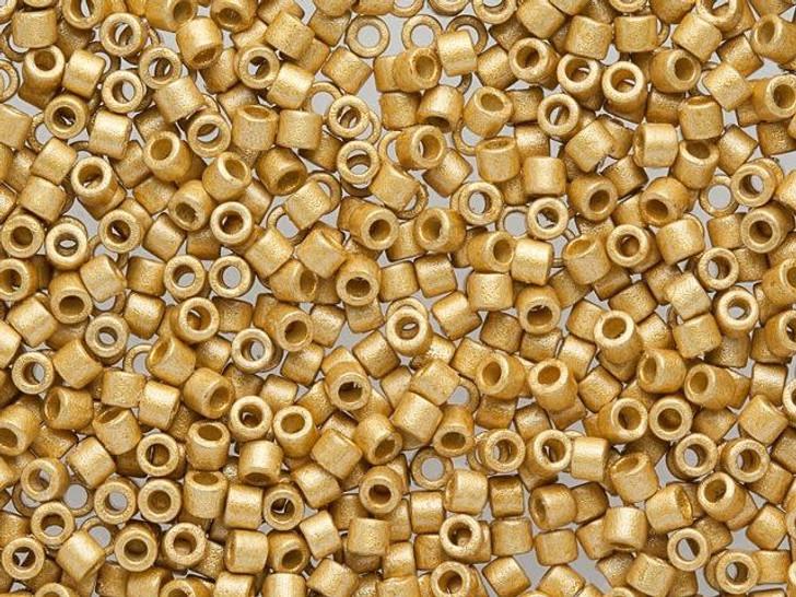 Miyuki 10/0 Duracoat Galvanized Matte Gold Delicas 2.5-Inch Tube