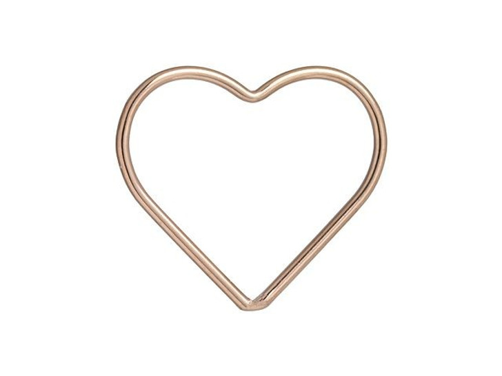 Rose Gold-Filled 14K/20 17.5mm Closed Heart Jump Ring
