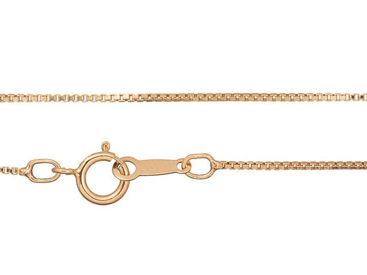 Rose Gold-Filled 14K/20 18-Inch Box Chain Necklace
