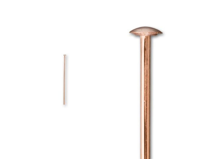 Rose Gold-Filled 14K/20 1-Inch Head Pin 24 Gauge