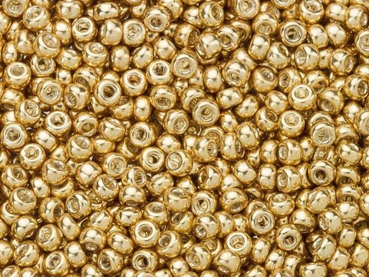 Miyuki 11/0 Round Seed Beads - Galvanized Gold 2.5-Inch Tube