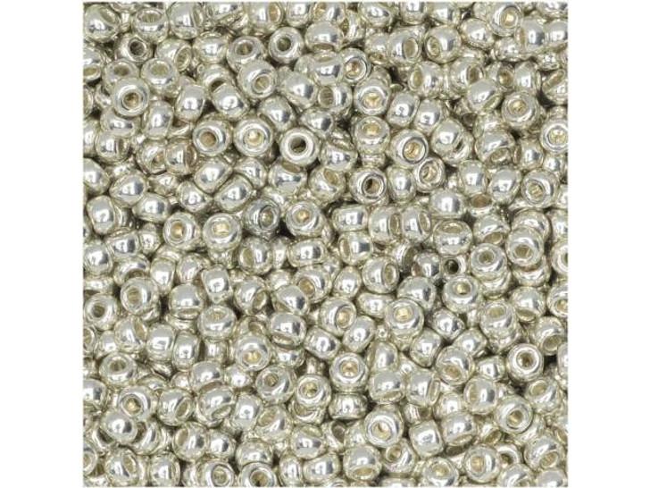 Miyuki 11/0 Round Seed Beads - Galvanized Silver 8g Bag