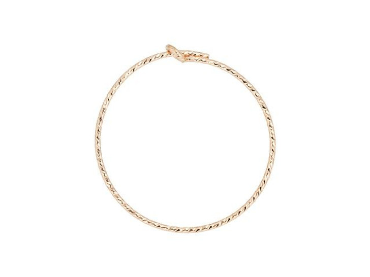 Rose Gold-Filled 14K/20 20mm Sparkle Beading Hoop (Pair)