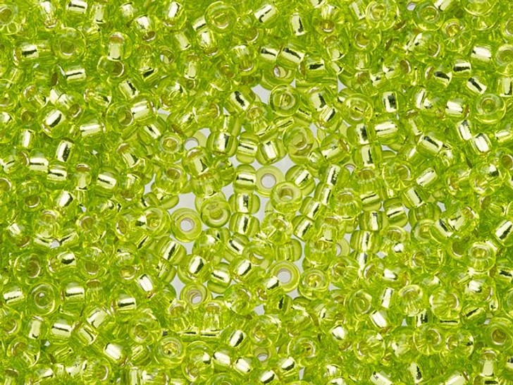 Miyuki 11/0 Round Seed Beads - Silver-Lined Chartreuse 22g Vial