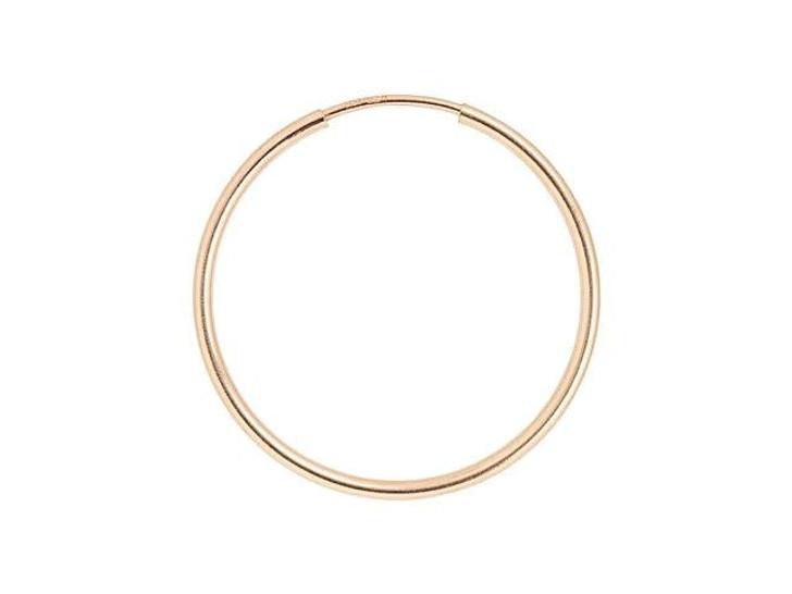 Rose Gold-Filled 14K/20 24mm Endless Beading Hoop (Pair)