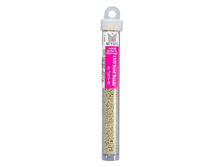 Miyuki 15/0 Round Seed Beads - Duracoat Galvanized Silver 22g Vial