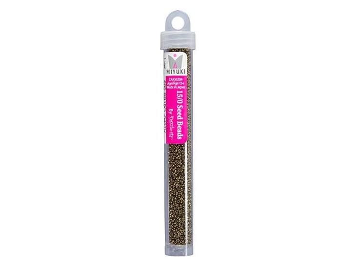 Miyuki 15/0 Round Seed Beads - Metallic Opaque Bronze 22g Vial