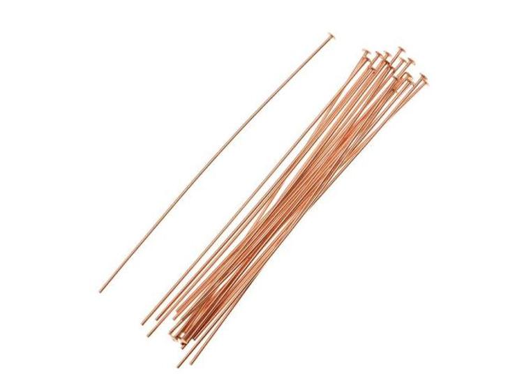 Rose Gold-Filled 14K/20 2-Inch Head Pin 24 Gauge