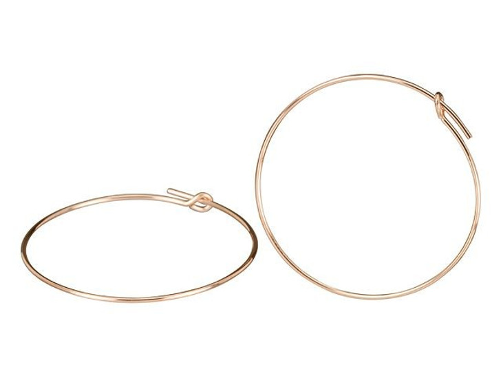 Rose Gold-Filled 14K/20 30mm Endless Beading Hoop (Pair)