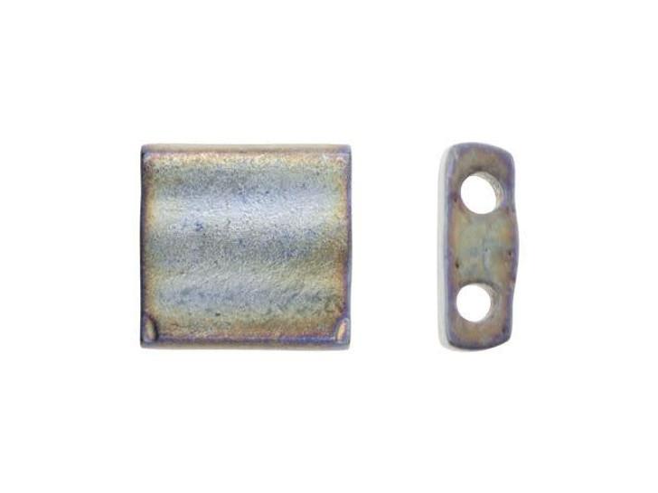 Miyuki 5mm Metallic Matte Silver-Grey Tila Square Tube Bead 8g Pack