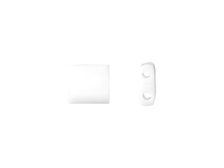 Miyuki 5mm Opaque White Tila Square Tube Bead 8g Bag