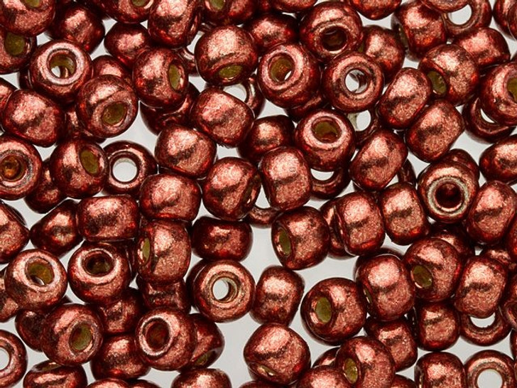 Miyuki 6/0 Round Seed Beads - Duracoat Galvanized Dark Berry 2.5-Inch Tube