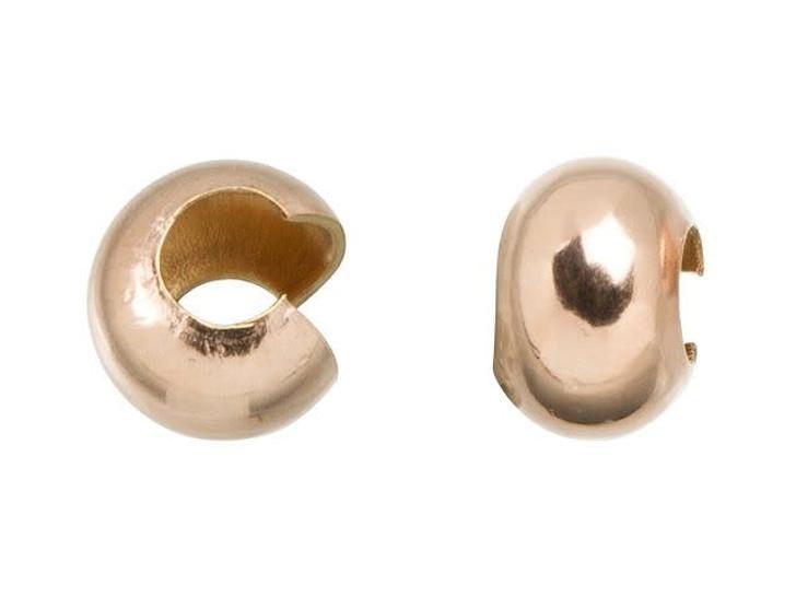 Rose Gold-Filled 14K/20 4mm Crimp Cover
