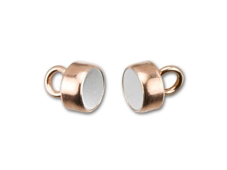 Rose Gold-Filled 14K/20 4mm Magnetic Clasp