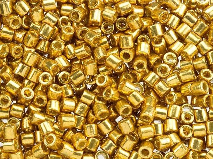 Miyuki 8/0 Delica Seed Beads - Galvanized Gold 2.5-Inch Tube