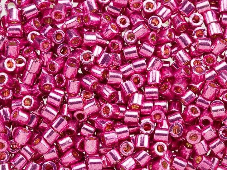 Miyuki 8/0 Delica Seed Beads - Galvanized Hot Pink 2.5-Inch Tube