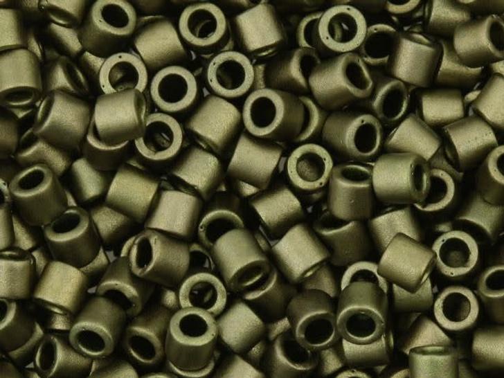 Miyuki 8/0 Metallic Matte Dark Olive Delicas 2.5-Inch Tube
