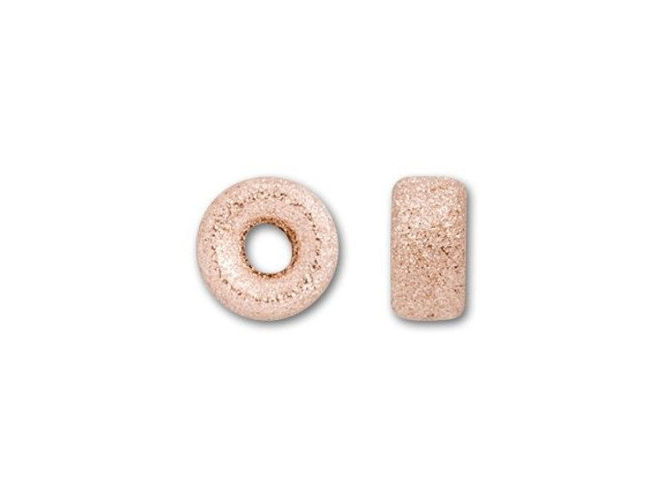 14K/20 Rose Gold-Filled 4mm Stardust Roundel Bead