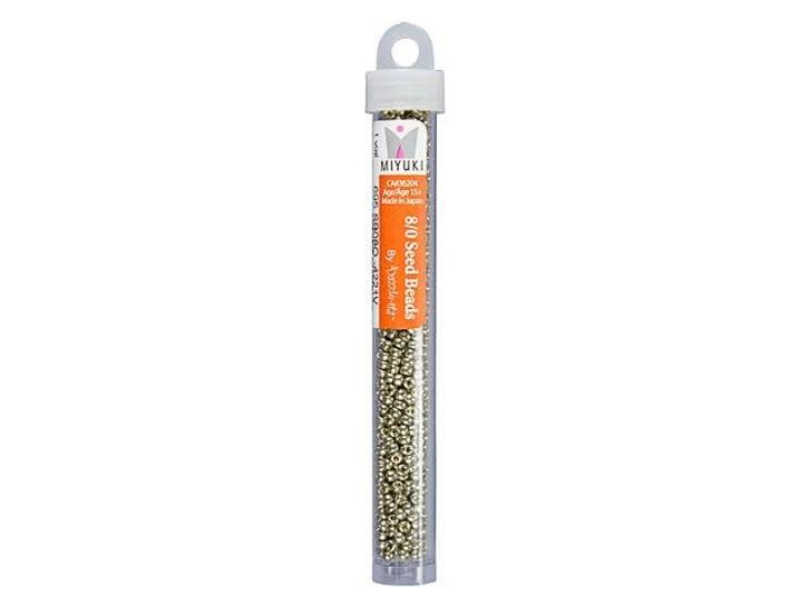 Miyuki 8/0 Round Seed Beads - Duracoat Galvanized Light Pewter 22g Vial