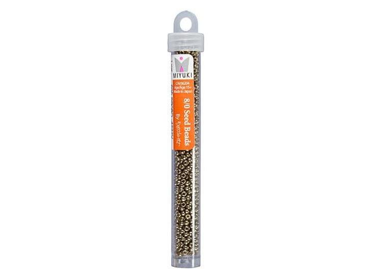 Miyuki 8/0 Round Seed Beads -  Duracoat Galvanized Pewter 22g Vial