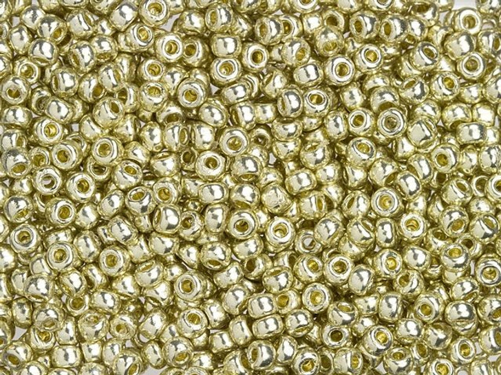 Miyuki 8/0 Round Seed Beads - Duracoat Galvanized Silver 22g Vial